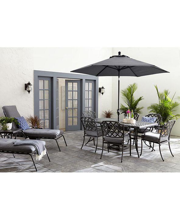 Furniture Grove Hill II Outdoor Dining Collection, with Sunbrella® Cushions, Created for Macy's