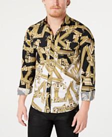 Versace Men's All-Over Graphic Shirt