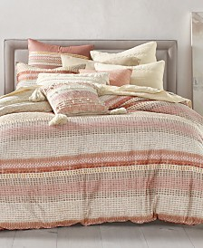Lucky Brand Woodblock Stripe Comforter Sets, Created for Macy's
