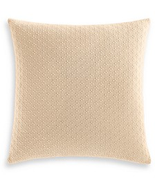 "CLOSEOUT! Diamond Dot Cotton 300-Thread Count 18"" x 18"" Decorative Pillow, Created for Macy's"