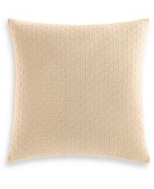 "Diamond Dot Cotton 300-Thread Count 18"" x 18"" Decorative Pillow, Created for Macy's"