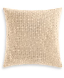"""Charter Club Damask Designs Diamond Dot Cotton 300-Thread Count 18"""" x 18"""" Decorative Pillow, Created for Macy's"""