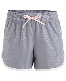 Big Girls Logo-Print Dolphin-Hem Shorts
