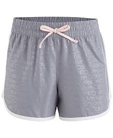 Calvin Klein Performance  Big Girls Logo-Print Dolphin-Hem Shorts