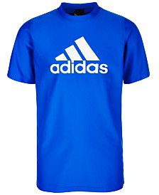 adidas Big Boys Logo Rash Guard