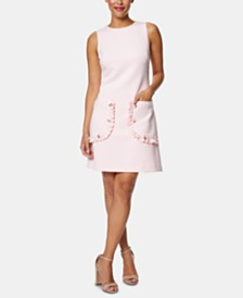 Betsey Johnson Petite Embellished-Pocket A-line Dress