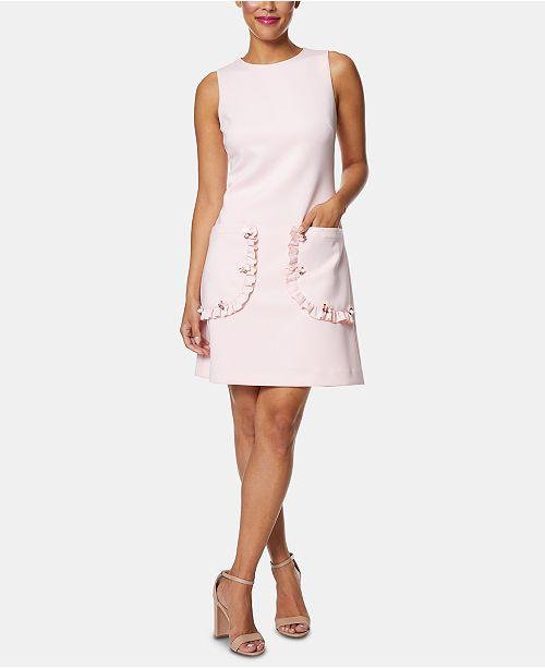 e2b0b1e82 Betsey Johnson Ruffle-Pocket Shift Dress & Reviews - Dresses - Women ...