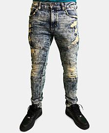 Heritage America Men's Slim-Fit Distressed Jeans