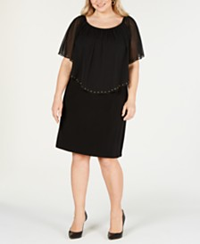 JM Collection Plus & Petite Plus Size Convertible Sheath Dress, Created for Macy's