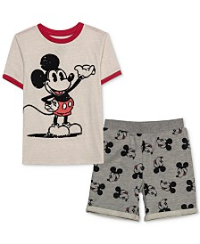 Disney Little Boys Mickey Mouse T-Shirt & Shorts Set