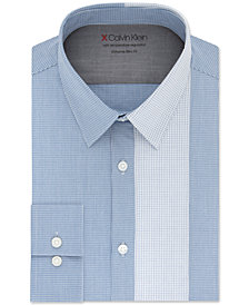 Calvin Klein X Men's Extra-Slim Fit Temperature Regulating Stretch Check Dress Shirt
