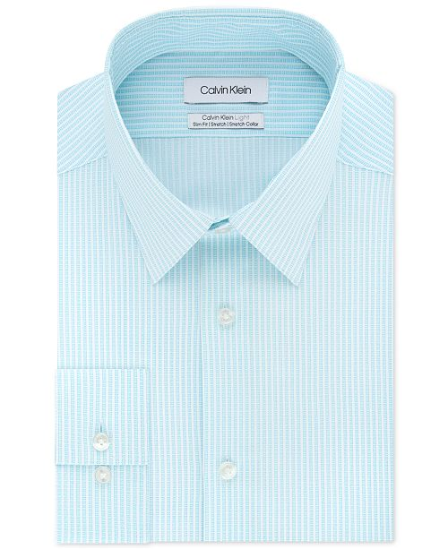 Calvin Klein Calvin Klein Men's Light Slim-Fit Performance Stretch Stripe Dress Shirt