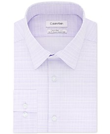 Calvin Klein Men's Light Slim-Fit Performance Stretch Tonal Check Dress Shirt
