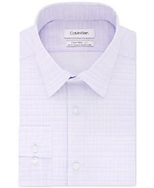 Calvin Klein Men's Light Slim-Fit Performance Stretch Tonal Check Dress Shirt