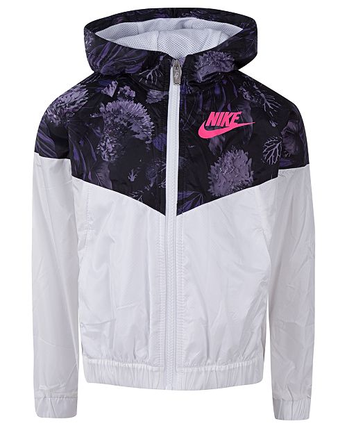 ab47f025118b Nike Toddler Girls Hooded Printed Windrunner Jacket   Reviews ...