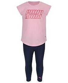 Puma Toddler Girls 2-Pc. Logo-Print T-Shirt & Leggings Set