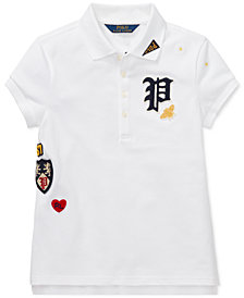 Polo Ralph Lauren Big Girls Patchwork Stretch Polo