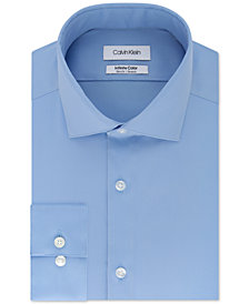 Calvin Klein Men's Slim-Fit Non-Iron Performance Stretch Infinite Color Solid Dress Shirt