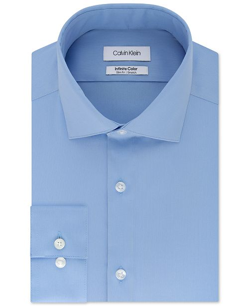 cbf45a666 ... Calvin Klein Men's Slim-Fit Non-Iron Performance Stretch Infinite Color  Solid Dress Shirt ...