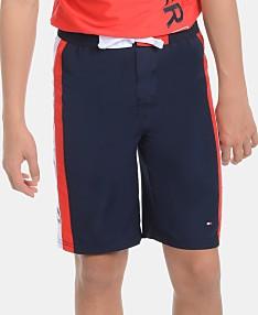 8952b114b99 Tommy Hilfiger Big Boys Side Stripe Swimsuit