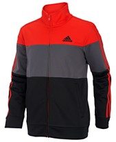 6688cc1daa adidas Big Boys Colorblocked Tricot Track Jacket