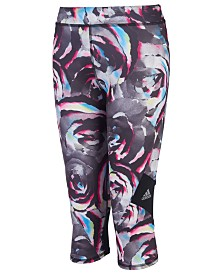 adidas Big Girls Alpha Printed Capri Tights