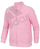 0a07de3717a adidas Big Girls Tricot Logo Track Jacket