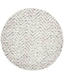 Safavieh Adirondack Ivory and Charcoal 6' x 6' Round Area Rug