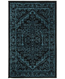 Safavieh Adirondack Black and Teal 3' x 5' Area Rug