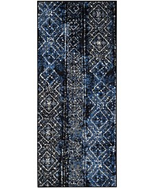 "Adirondack Silver and Black 2'6"" x 6' Runner Area Rug"