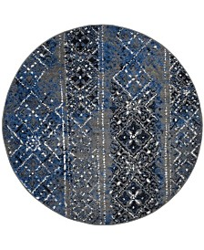 Safavieh Adirondack Silver and Multi 6' x 6' Round Area Rug