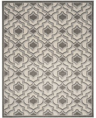 Amherst Ivory and Gray 7' x 7' Round Area Rug