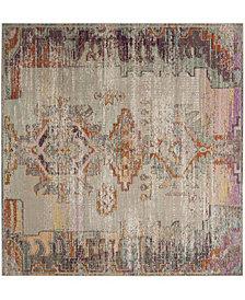 Safavieh Crystal Light Gray and Purple 7' x 7' Square Area Rug