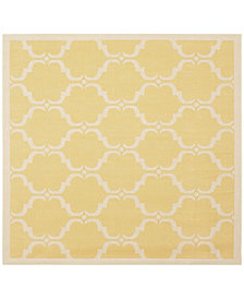 "Safavieh Courtyard Yellow and Beige 5'3"" x 5'3"" Sisal Weave Square Area Rug"