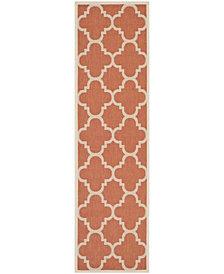 "Safavieh Courtyard Terracotta 2'3"" x 8' Sisal Weave Area Rug"