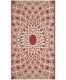 "Safavieh Courtyard Red and Beige 2' x 3'7"" Sisal Weave Area Rug"