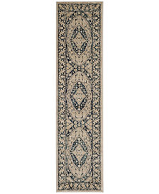 Safavieh Evoke Beige and Navy 2' x 8' Area Rug