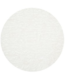 Faux Sheep Skin Ivory 6' X 6' Round Area Rug