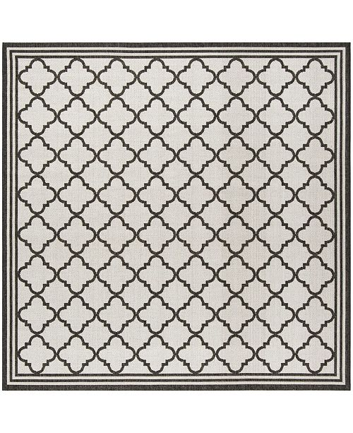 """Safavieh Linden Light Gray and Charcoal 6'7"""" x 6'7"""" Square Area Rug"""