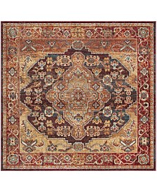 Safavieh Harmony Ruby and Gold 7' x 7' Square Area Rug
