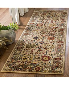 """Kashan Beige and Taupe 2'6"""" x 8' Runner Area Rug"""