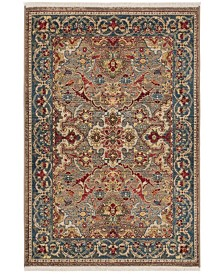 "Safavieh Kashan Taupe and Blue 3'3"" x 4'10"" Sisal Weave Area Rug"