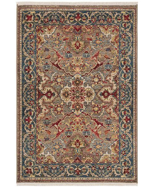 "Safavieh Kashan Taupe and Blue 3'3"" x 4'10"" Sisal Weave Area Rug"