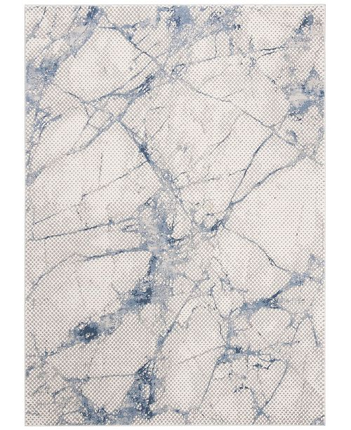 """Safavieh Meadow Navy and Ivory 5'3"""" x 7'6"""" Area Rug"""