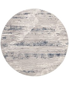 """Meadow Gray and Ivory 6'7"""" x 6'7"""" Round Area Rug"""