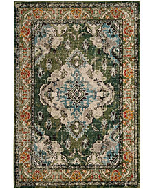 """Safavieh Monaco Forest Green and Light Blue 5'1"""" x 7'7"""" Area Rug"""