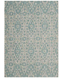 "Martha Stewart Collection Gray and Aqua 4' x 5'7"" Area Rug, Created for Macy's"