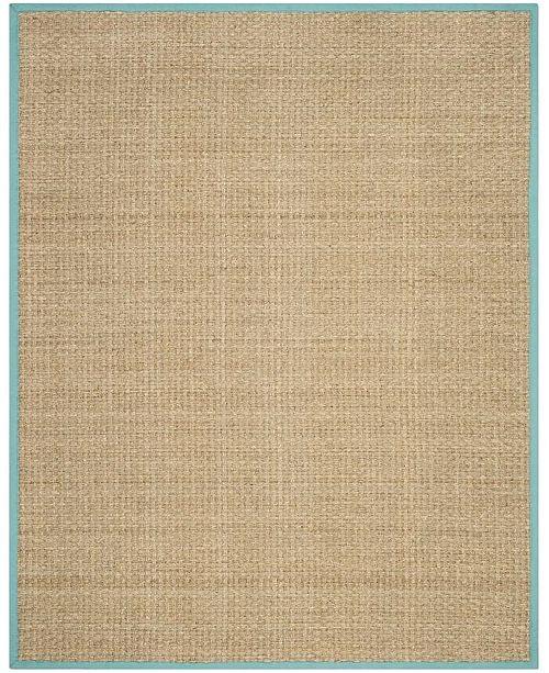 Safavieh Natural Fiber Natural and Teal 8' x 10' Sisal Weave Area Rug