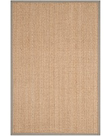 Natural Fiber Natural and Gray 4' x 6' Sisal Weave Area Rug