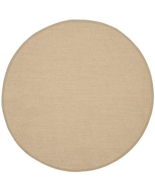 Safavieh Natural Fiber Maize and Linen 6' x 6' Sisal Weave Round Area Rug